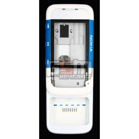 Корпус для Nokia 5300, синий, копия ААА, полный комплект, слайдерный механизм