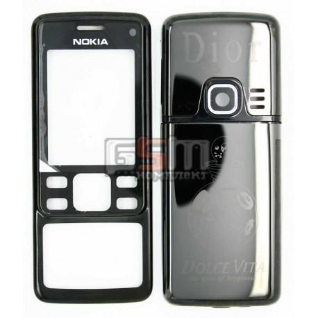 Корпус для Nokia 6300, черный, копия ААА, с орнаментом