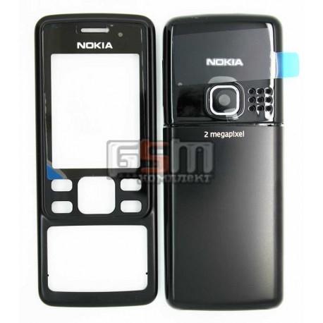 Корпус для Nokia 6300, черный, high-copy