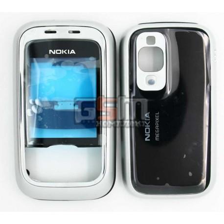 Корпус для Nokia 6111, черный, high-copy, передняя и задняя панель