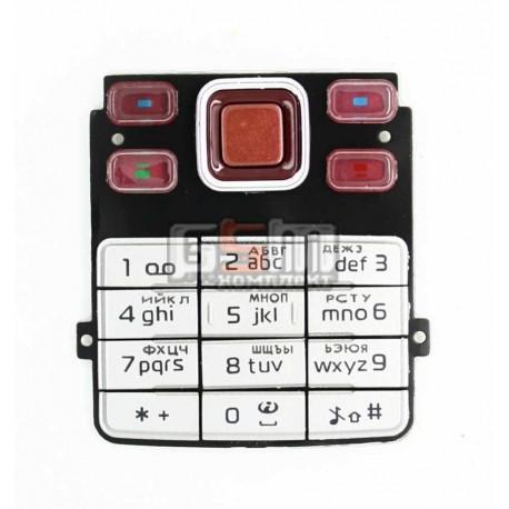 Клавиатура для Nokia 6300, красная, русская