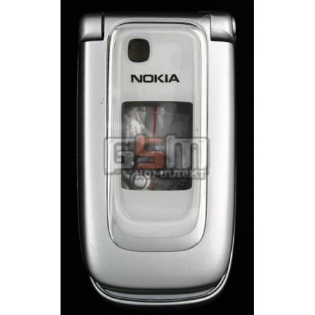 Корпус для Nokia 6131, копия AAA, серебристый