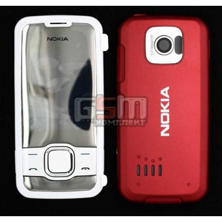 Корпус для Nokia 7610sn, красный, копия ААА, с клавиатурой