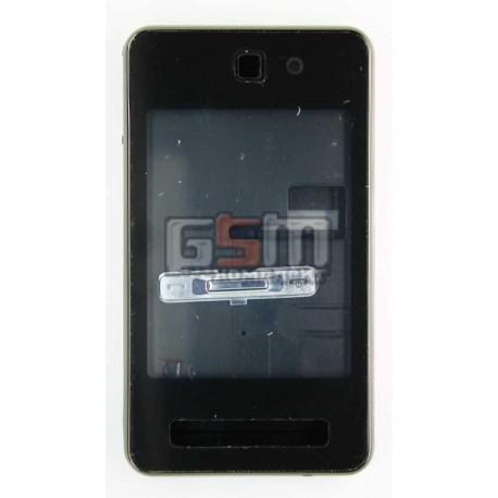 Корпус для Samsung F480, копия AAA, черный