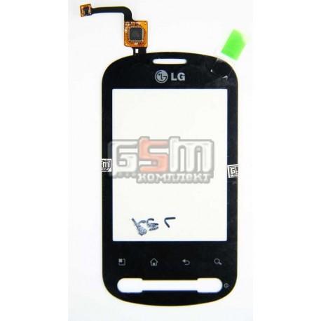 Тачскрин для LG P350, черный
