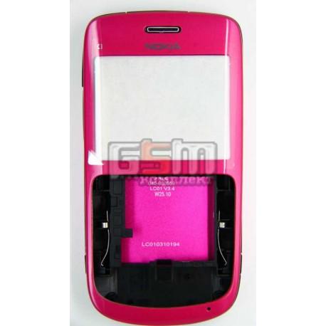 Корпус для Nokia C3-00, копия AAA, розовый