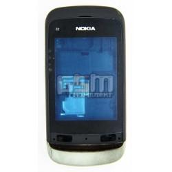 Корпус для Nokia C2-02, high-copy, чорний