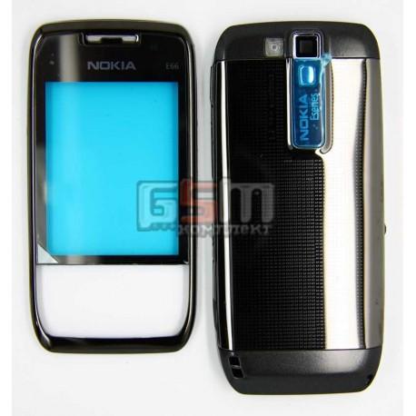 Корпус для Nokia E66, черный, high-copy