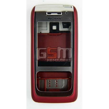 Корпус для Nokia E65, красный, копия ААА