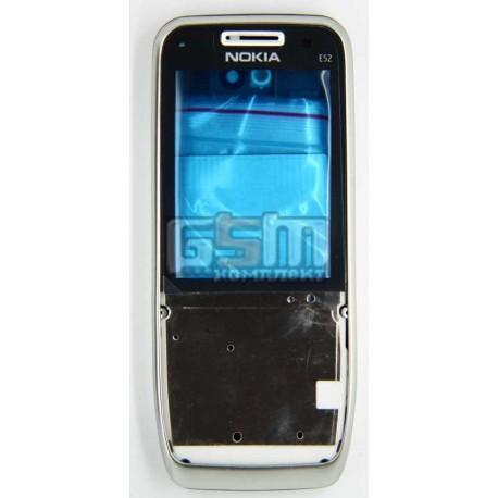 Корпус для Nokia E52, копия AAA, серебристый