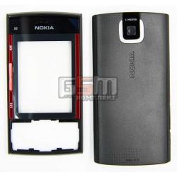 Корпус для Nokia X3-00, черный, high-copy
