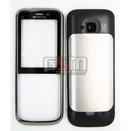 Корпус для Nokia C5-00, серый, high-copy