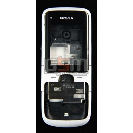 Корпус для Nokia C1-01, белый, high-copy