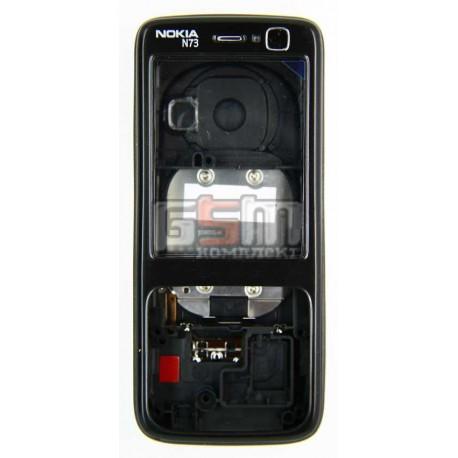 Корпус для Nokia N73, черный, копия ААА
