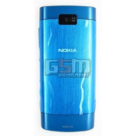 Корпус для Nokia X3-02, синий, high-copy