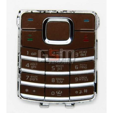 Клавиатура для Nokia 6500c, бронзовый, русская
