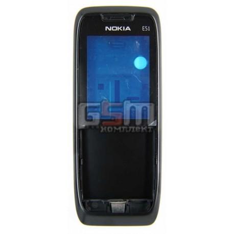 Корпус для Nokia E51, черный, копия ААА