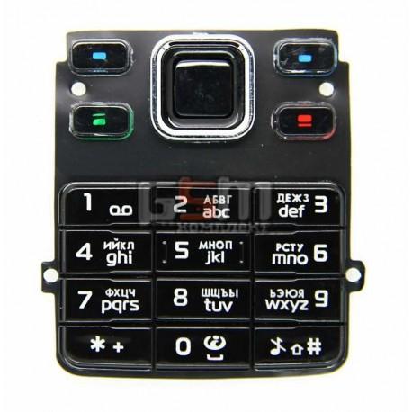 Клавиатура для Nokia 6300, черная, русская