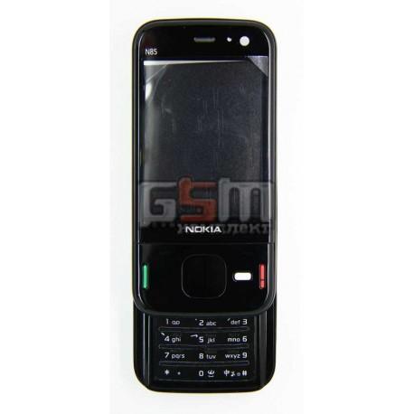 Корпус для Nokia N85, черный, high-copy, с клавиатурой