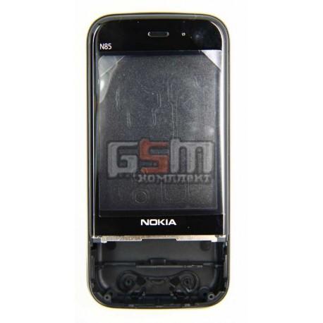 Корпус для Nokia N85, черный, high-copy