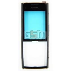 Передняя панель корпуса для Nokia X2-00, оригинал, черный, (0257955)
