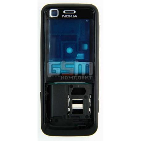 Корпус для Nokia 6120c, 6121c, копия AAA, черный