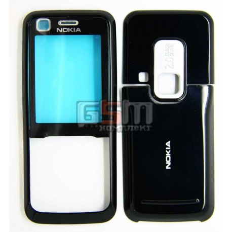 Корпус для Nokia 6120c, 6121c, черный, копия ААА, передняя и задняя панель