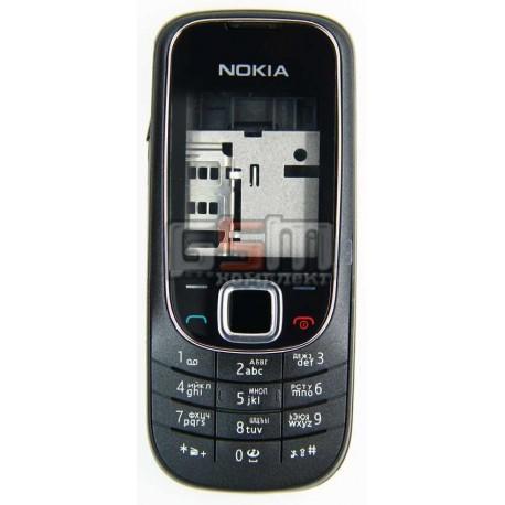 Корпус для Nokia 2323c, черный, копия ААА, с клавиатурой