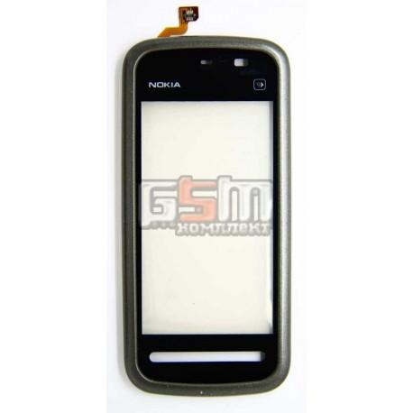 Тачскрін (сенсорний екран ) для Nokia 5228, 5230, 5233, 5235, з передньою панеллю копія, чорний
