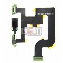 Шлейф для Motorola A855 Droid, XT702 Milestone, межплатный, с компонентами, с динамиком