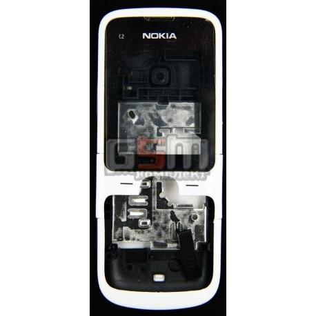 Корпус для Nokia C2-00, белый, копия ААА