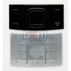 Клавиатура для Nokia X3-00, серебристая, русская, верхняя, нижняя