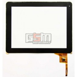 Tачскрин (сенсорный экран, сенсор) для китайского планшета 9.7, 12 pin, с маркировкой WJ-DR97010, для DNS AirTab M973G, размер 236 x 183 mm, черный