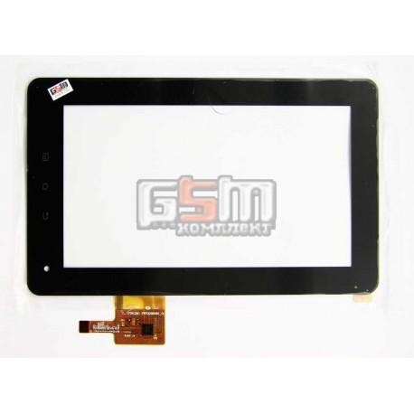 Тачскрін (сенсорний екран, сенсор) для китайського планшету 7, 12 pin, с маркировкой PB70DR8065-01, PB70TQ8034-G4, для Fly Panorama IQ310, teXet TM-7025, BMORN V11, Benss B7, Flytouch C08S, GoClever Tab A73, Benton BT-M740, размер 190*116 мм, черный