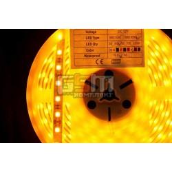 Светодиодная лента LED-Y-SMD-5050, 60 шт/м, водонепроницаемая IP67 в силиконовой трубке, 12V цвет свечения жёлтый (Цена указана за 1м)