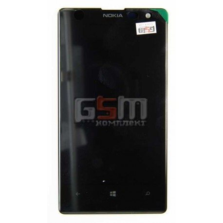 Дисплей для Nokia 1020 Lumia, черный, с тачскрином (модуль)
