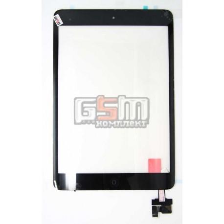 Тачскрин (сенсорный экран) для Apple iPad Mini, с защитным стеклом, с МИКРОСХЕМОЙ черный