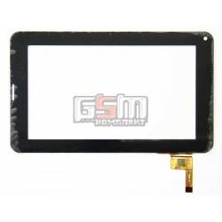 Tачскрин (сенсорный экран, сенсор) для китайского планшета 7, 12 pin, с маркировкой -8-6221 , JYT ZET6221, TPT-070-128 KDX, для TEAC accord 711, Impression ImPAD 4113, черный