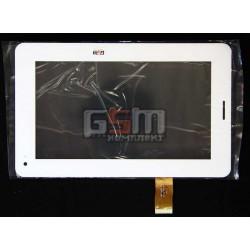 Tачскрин (сенсорный экран, сенсор) для китайского планшета 7, 30 pin, с маркировкой XC-PG0700-02, F761 FPC-V0, TE-0700-0014, YL-CG013-FPC-A4, размер 189*117, белый