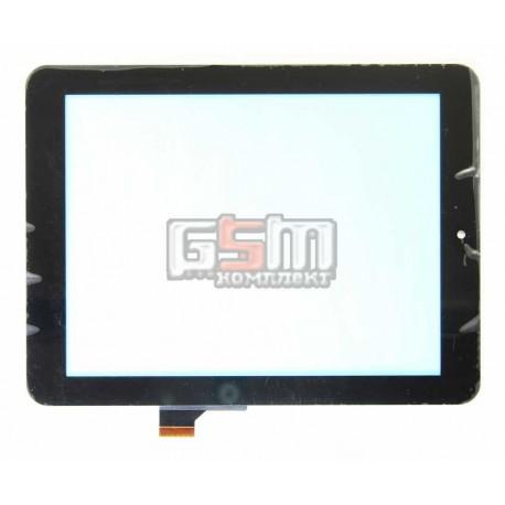 """Tачскрин (сенсорный экран, сенсор) для китайского планшета 8"""", 30 pin, с маркировкой HOTATOUCH C152201A1, DRFPC085T-V1.0, черный"""