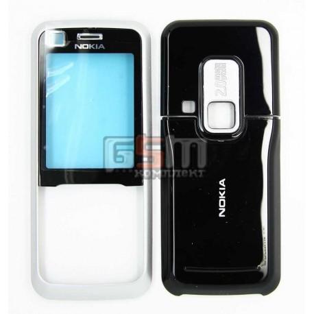 Корпус для Nokia 6120c, 6121c, серебристый, high-copy, передняя и задняя панель