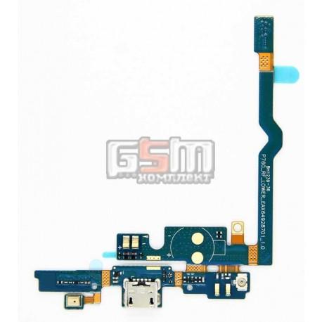 Шлейф для LG P760 Optimus L9, P765 Optimus L9, P768 Optimus L9, коннектора зарядки, микрофона, с компонентами