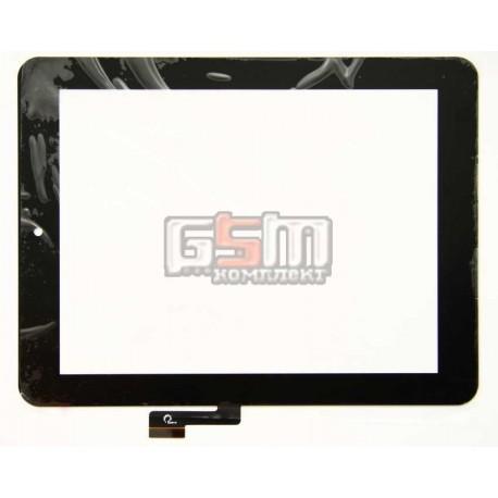 """Тачскрин (сенсорный экран, сенсор ) для китайского планшета 8"""", 51 pin, с маркировкой F0425 XDY1319, размер 198x150, черный"""