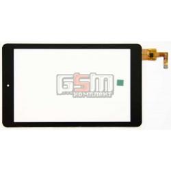 Tачскрин (сенсорный экран, сенсор) для китайского планшета 7, 10 pin, с маркировкой AD-C-700594-FPC, для Impression ImPAD 8213 , iconBIT NetTAB Matrix HD White (NT-0708M), размер 181 x 108 mm, черный