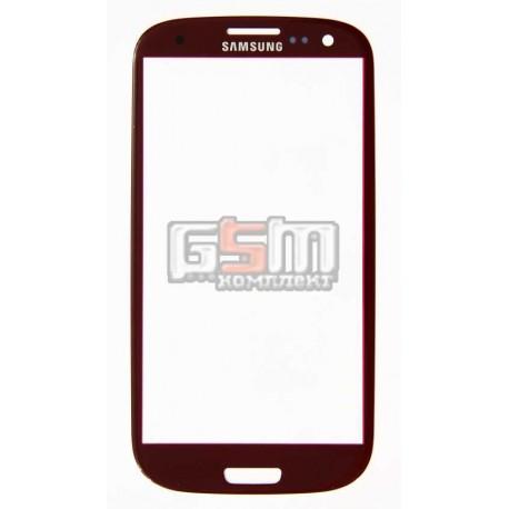 Стекло корпуса для Samsung I9300 Galaxy S3, I9305 Galaxy S3, красное
