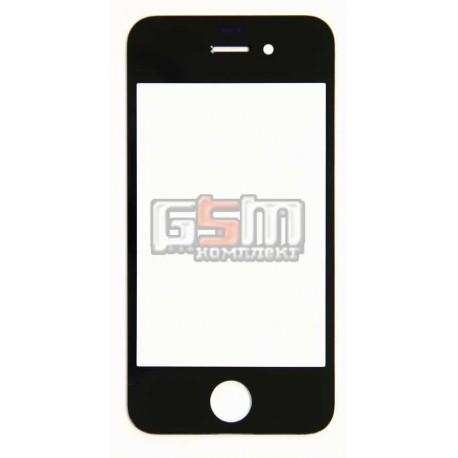 Стекло дисплея для Apple iPhone 4S, черное