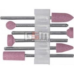 Шарошки по камню алюминий-оксидные мини набор 6 шт FIT 36924