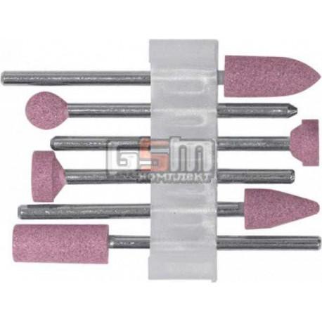 Шарошки по камню алюміній-оксидні міні набір 6 шт FIT 36924
