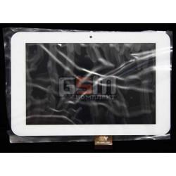 Tачскрин (сенсорный экран, сенсор) для китайского планшета 7, 40 pin, с маркировкой TPC-50201 V4,0, размер 186 х 121 mm, белый
