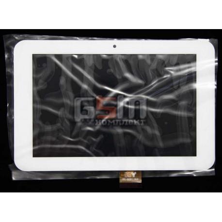"""Tачскрин (сенсорный экран, сенсор) для китайского планшета 7"""", 40 pin, с маркировкой TPC-50201 V4,0, размер 186 х 121 mm, белый"""